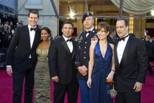 Tim, Idil, Aron, Misha, Daniela, and Sebastian at the Oscars.