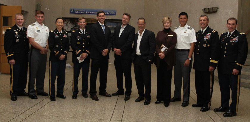 Sebastian Junger, Nick Quested & MAJ Dan Kearney at West Point